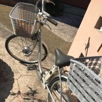 Uさんの自転車を貰いに行った