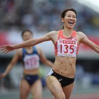 福島千里選手の笑顔に、気分は最高