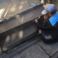 茨城 年末12月にやらなくても良い アパートの階段回りのモルタル補修