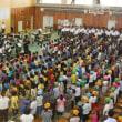 中学生の音楽会での発表