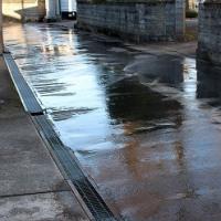 はじまった「道路散水式融雪装置」の点検。