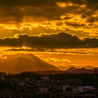 1月17日(火)ダイヤモンド富士-平山陸橋