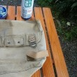 CB250エクスポート 布製バッグの防水化の実験