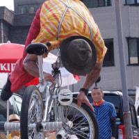 自転車が動かないように・・・