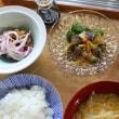 砂肝と野菜の香味漬け・かぼちゃ煮・・・おっと朝餉