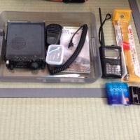 琵琶湖岸で無線運用 ①荷物と場所