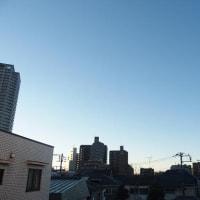 今朝(12月2日)の東京のお天気:晴れ