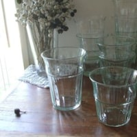 リサイクルガラスのタンブラー & 土曜営業