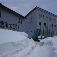 倉庫周りの除雪