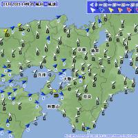 1月20日 アメダスと天気図。