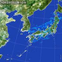 さむい!15時で10,9℃ 波なく 富士山冠雪残りちらり(今は雪)