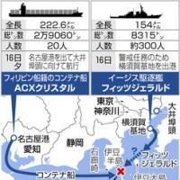 米海軍 イージス艦 貨物船と衝突 !!