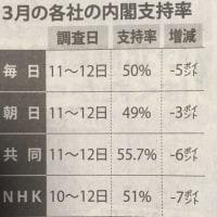 NHK世論調査 内閣支持率:51%