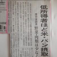 低所得者ほど米摂取。