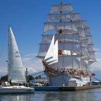 海王丸の総帆展帆と夏の称名滝 ■2016_8_21