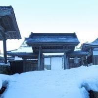 早朝に「雪の平泉寺」探訪。