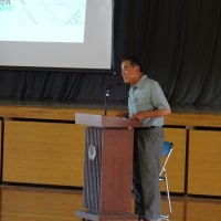 6月9日 花園中学校で大賀ハスの講演会を行いました