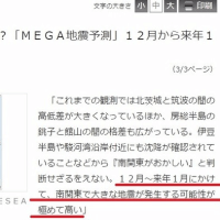 村井俊治氏の「南関東で大地震」との地震予測、やはりハズレました