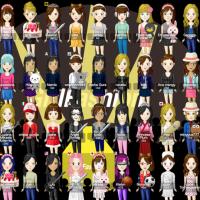 女の子ファッションコーディネートの無料きせかえゲーム