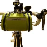 RALEIGH CR-F にモンベル(mont-bell)フロントバッグを装着