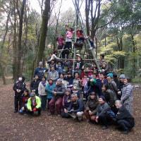 「竹ジャングルジム」(ことしの「一日体験プレーパーク」)