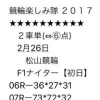 2/26 松山競輪 F1 ナイター 初日