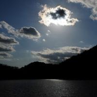 宝が池の夕日
