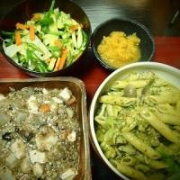 大根と豆腐と雑穀の煮物