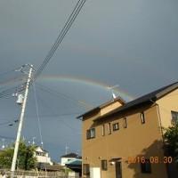 台風一過の青空