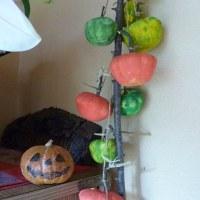 かぼちゃで遊び。