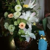 花をもらいました。