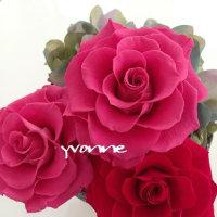 神戸 プリザーブドフラワー教室の満開の薔薇