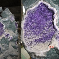 天然水晶洞異像水晶紫水晶?水晶鈦晶洞水晶柱石藝廊