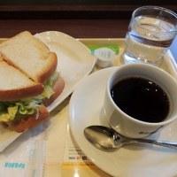 #5044 朝カフェ ハムタマゴサラダ