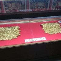月宮殿山の懸装品/大津祭曳山展示館で12月3日迄展示
