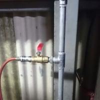 ガレージのエア配管