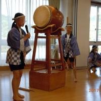 施設の家族会と太鼓の演奏