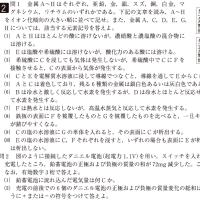 大阪医科大学・医学部・化学 2
