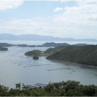 囲碁と瀬戸内海国立公園夕立受山からの展望