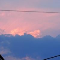 6/24 雲の合間から、最後の光が