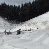 グランドの除雪