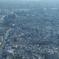 1月の東京スカイツリー:フロア350より東~南東方向(新小岩駅~舞浜駅)