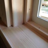 窓枠と妻壁塗り完成