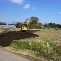 ちょっと良い貸家プロジェクト! 岬町押日『 小さなGarden House(貸家)』は本日、造成工事開始!しました。