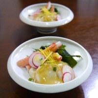 アジの梅肉大葉包み天ぷら