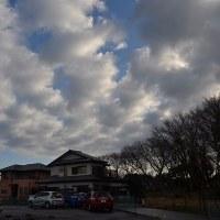 2月25日、午前8時過ぎの空模様