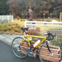 朝バイク ~ 路面ウェット・・・