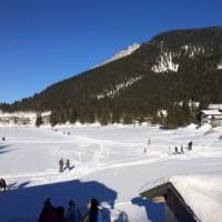 ミュンヘンからスキーSpitzingsee(シュピッツィング湖)