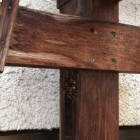 台風接近、蜂の観察