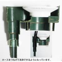 雨水コレクターミニ マイホームライトの隠し機能、ホース洗浄できるようになっている。